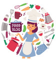 food blog cooking appliances vector image