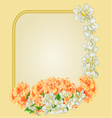 Frame with yellow hibiscus and jasmine vector image