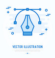 graphic design thin line icon vector image vector image