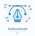 graphic design thin line icon vector image