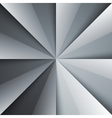 Gray and white tones folded shiny paper triangles vector image