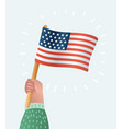 hand holding united states america flag vector image vector image