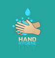 hand hygiene day vector image
