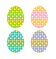 hatching chicks and daisies eggs vector image