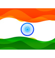 indian flag made in simple wave style with vector image vector image
