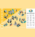 isometric business education concept vector image