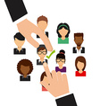 jobs concept design vector image