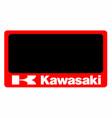 kawasaki motorcycle number plate vector image vector image