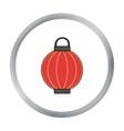 Korean lantern icon in cartoon style isolated on