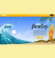 landing page design beach vacation vector image vector image