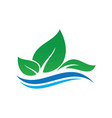 leaf ecology wave concept logo image vector image vector image