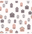 little town seamless pattern background vector image
