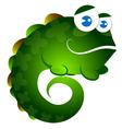 Lizard funny vector image