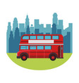 london double decker bus vector image