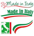 made in italy set vector image