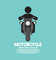 Man Riding A Motorcycles Symbol vector image vector image