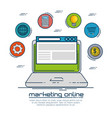 marketing online design vector image