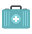 medicine flat suitcase isolated on white vector image vector image
