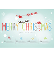 Merry Christmas Infographic vector image vector image