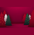 mock up scene podium shape for show cosmetic vector image