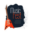 music fest concept background with electronic vector image
