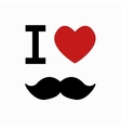 mustache symbol on white background vector image