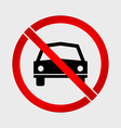no car or parking prohibition sign vector image