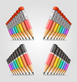 number of pencils vector image vector image