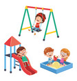 of children at park vector image vector image