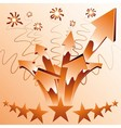 Orange fireworks arrows vector image vector image