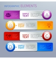Paper infographics option banners vector image vector image