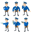 Policeman concept set cartoon style