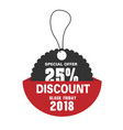 price tag special offer 25 discount black friday vector image