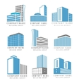 Real estate construction business logo set with vector image vector image