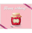 rose and polka dots birthday card with jam jar of vector image vector image