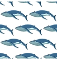 Seamless background pattern of blue whales vector image vector image