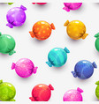 seamless pattern with cartoon colorful round vector image vector image
