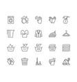 set laundry line icons washing machine gloves vector image vector image