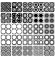 Set of 25 seamless patterns vector image