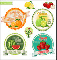 set of fresh and organic labels 3 vector image