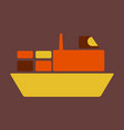 ship icon flat pictogram on background symbol vector image vector image