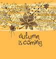 Sketch Patterned Autumn Leaves Concept vector image vector image