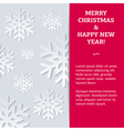 Snowflake NewYear Card vector image vector image