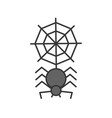 spider with spider web halloween related icon vector image vector image