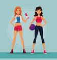 sport womens cartoons vector image