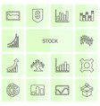 stock icons vector image vector image