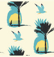 summer seamless pattern with sun palms and surfers vector image vector image