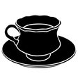 teacup silhouette vector image vector image
