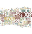 teenagers and their cellular phones text vector image vector image