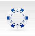 white casino chip vector image vector image
